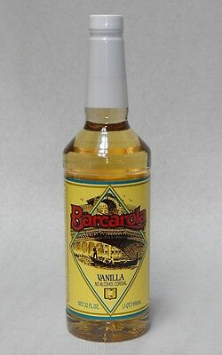 Gourmet Vanilla Syrup 32oz. Barcarola Coffee Drink And Italian Soda Flavor