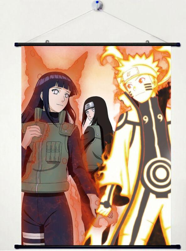 Home Decor Cosplay Naruto uzumaki naruto and hyuga hinata Wall Scroll Poster
