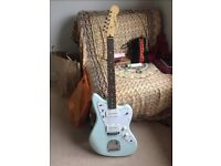 Squier sonic blue jazzmaster electric guitar (second hand)