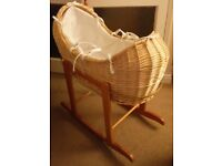 Noah Pod Moses Basket and Rocking Stand REDUCED TO CLEAR!