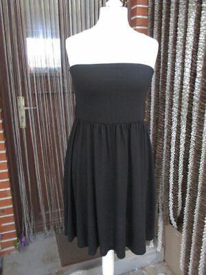 Schulterfreies Shirtkleid 42 44 M L sexy Jersey Kleid Rock Viskose-Misch.Schwarz Kleid Kleid Rock