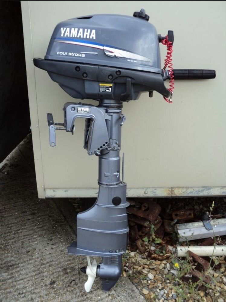 Hp Yamaha  Stroke Outboard On Canoe