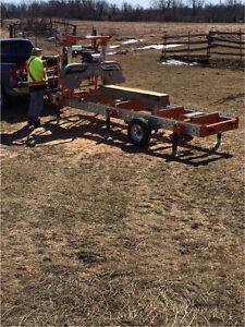 Portable wood milling service