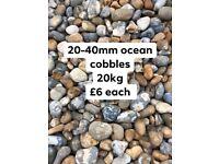 20-40mm ocean cobbles decorative stone 20kg £6 each