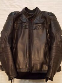 Dianese Motorcycle Leather Jacket 50 EU with armour and extra back support armour included