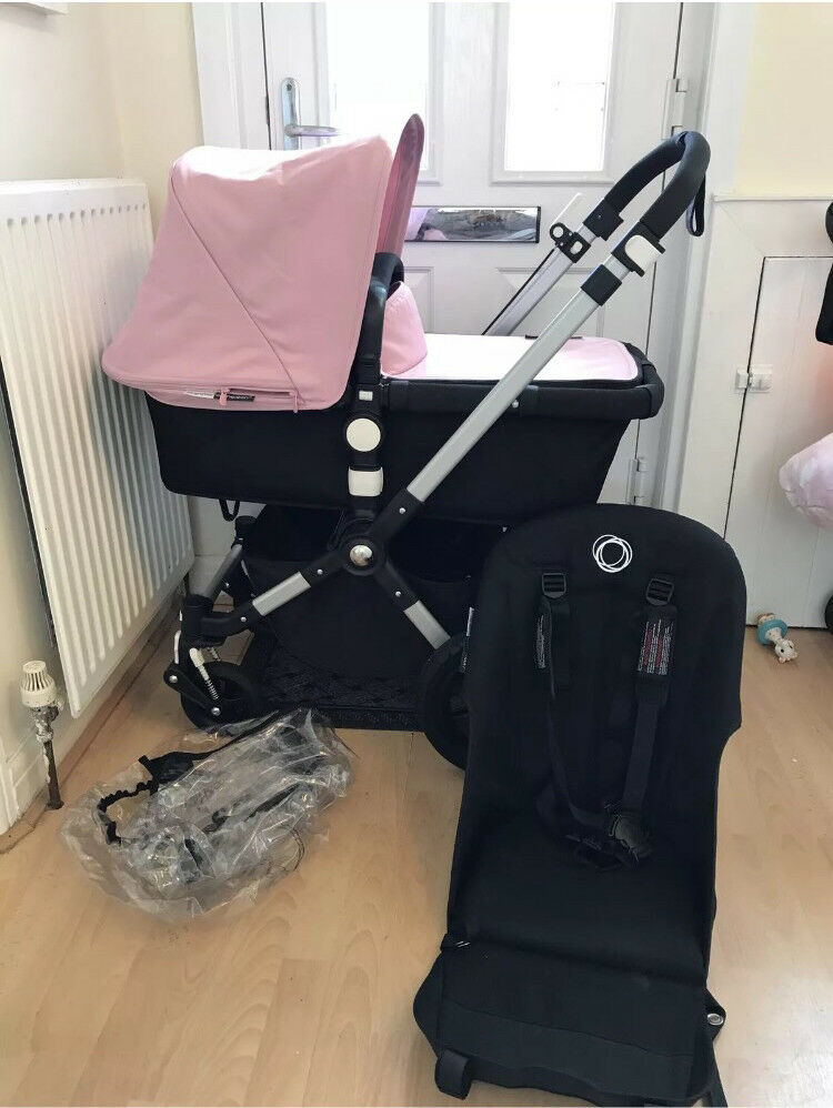 Bugaboo Cameleon 3 Pink With Footmuff And Car Seat Adapters