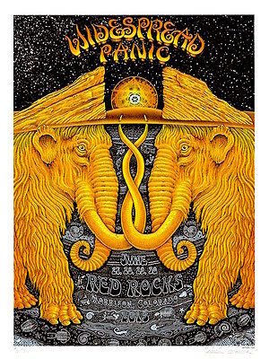 MINT EMEK 2013 Widespread Panic Red Rocks A/P Poster 48/50