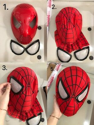 The Amazing Spider Man Faceshell Mask Spiderman Cosplay Costume Helmet Cos Props