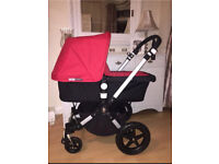 Immaculate bugaboo cameleon 3 unisex off white or red coversn