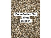 10mm golden flint decorative stone 20kg £5 each