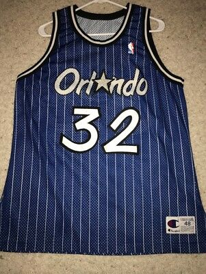 f5452f89 Shaq Shaquille O'Neal Orlando Magic authentic Champion Jersey Mens Xl 48