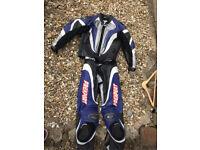 Prexport 2 piece men's motorbike leathers