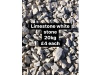 Limestone white decorative stone 20kg £4 each