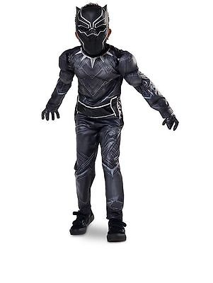 Disney Store Black Panther Captain America Civil War Costume Size 13 Halloween - Halloween Usa Stores