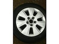 Audi/bmw alloy Spare wheel & tyre