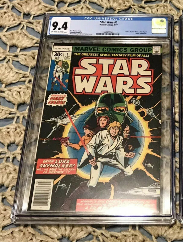 Star Wars #1 CGC 9.4 A New Hope 1st Print Chaykin 1977 Disney + New Case