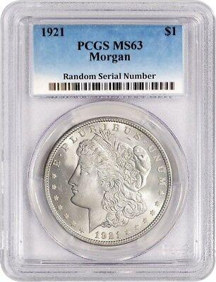 1921  1 Morgan Silver Dollar Pcgs Ms63