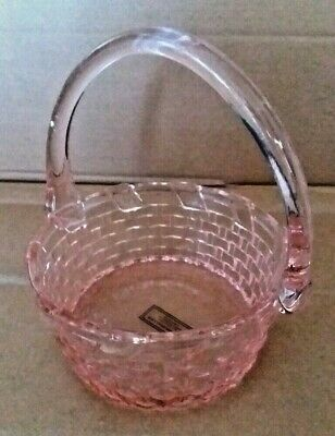 Easter Candy Baskets (WILLIAMS-SONOMA PINK GLASS EASTER CANDY BASKET DISCONTINUED - NEW IN)