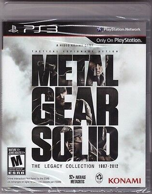 Metal Gear Solid: The Legacy Collection [PlayStation 3 PS3, 10 Games in One]