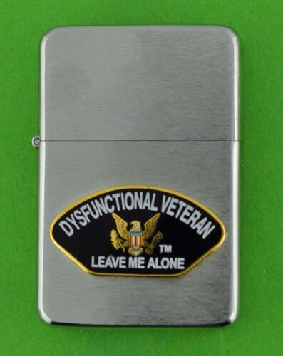 DYSFUNCTIONAL VETERAN WIND PROOF PREMIUM LIGHTER IN A GIFT BOX  MBC 056