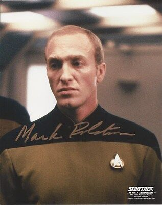 Mark Rolston - Star Trek TNG signed photo