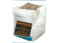 Pea Shingle/Gravel 10mm,Jumbo Bag,850-1000kg FREE DELIVERY BARNSLEY YORKSHIRE