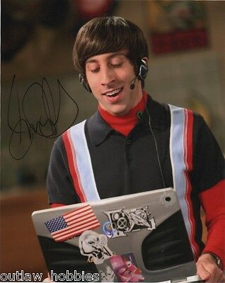 Simon Helberg Big Bang Theory Signed Autographed 8X10 Photo Coa