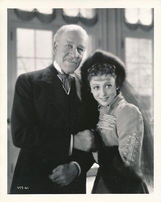 LUISE RAINER HENRY STEPHENSON Original CANDID Studio Set Vintage 1937 MGM Photo