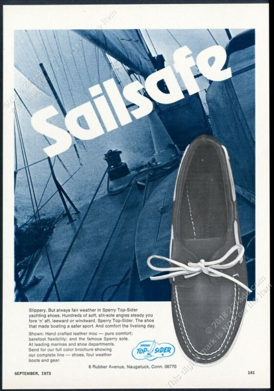 1966 Sperry Top Sider boat deck shoe sailing yacht photo vintage print ad