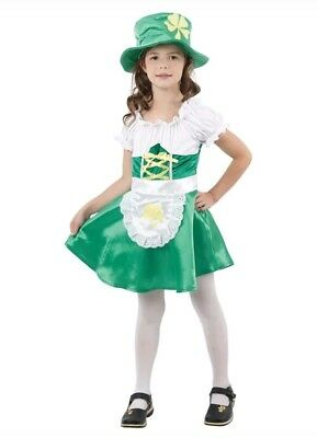 Leprechaun Girl Fancy Dress Costume age 4-6 Book Day Ireland Irish St Patricks - Girl Leprechaun