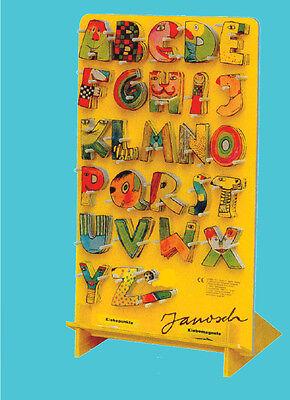 Janosch Holzbuchstaben Namen A - Z Klebepunkte Baby Kinderzimmer Jungen Mädchen