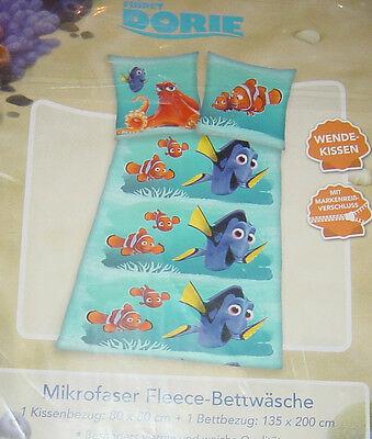 Disney Findet Dorie Mikrofaser Fleece Bettwäsche für Kinder,135x200cm,NEU-lesen!
