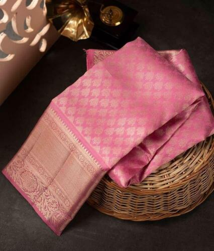 Saree Sari Designer Bollywood Silk Sari Traditional Kanchipuram Indian Wear KP