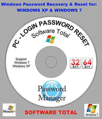 Windows Pc Login Password Recovery Reset Disk For Window Xp 7 On Your Computer