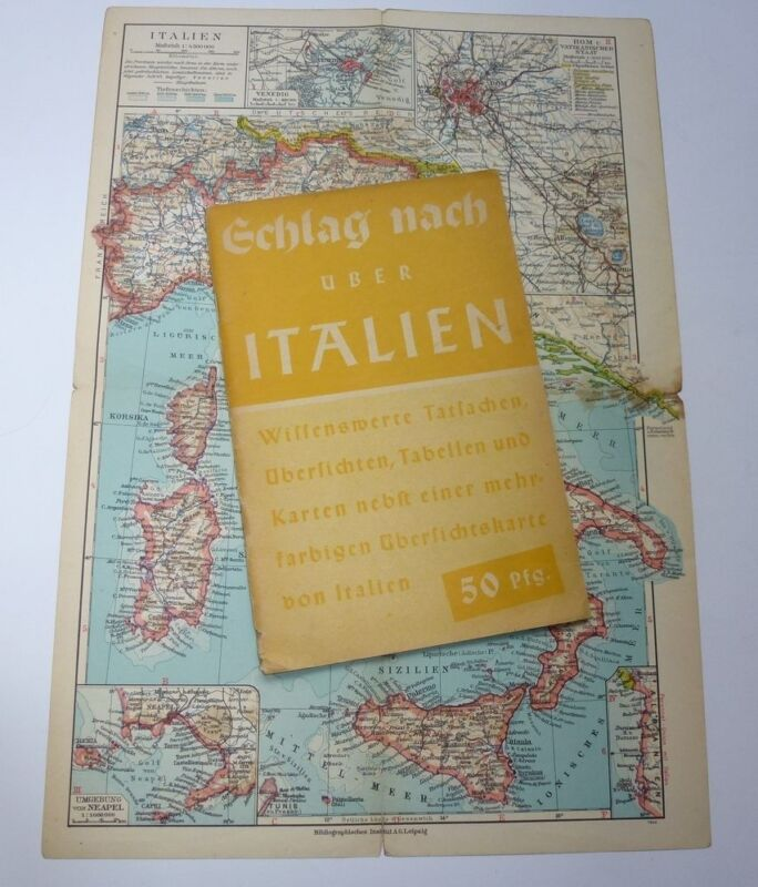 German WWII WW2    Italy  Guide Map