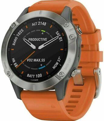 Garmin fenix 6 Sapphire Smartwatch 47mm Fiber-Reinforced Orange 010-02158-13
