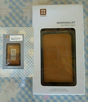 New XtremeMac MicroWallet x IPod Nano colore pelle Saddle XMIPN-MWL-00 Custodia