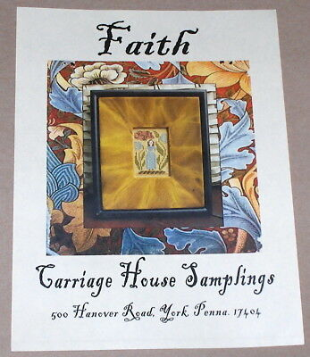 "Carriage House Samplings ""Faith"" Woman w/ Flowers Cross Stitch Pattern"