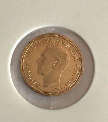 King George VI 1937 GOLD PROOF HALF SOVEREIGN