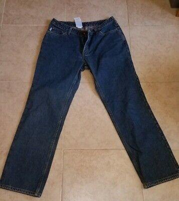 Carhartt Womens 10 x 32 Fleece Lined Relaxed fit Jeans Work Pants Carhartt Womens Work Jeans
