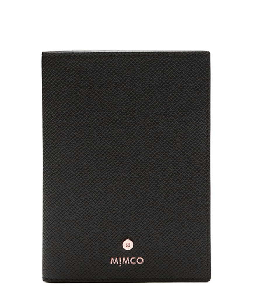 Mimco black rose gold CLASSICO LANYARD card wallet holder RRP: 89.95 Aud