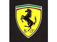 """#k220 2/"""" Ferrari Prancing Horse Racing Vintage Decal Sticker LAMINATED 2"""