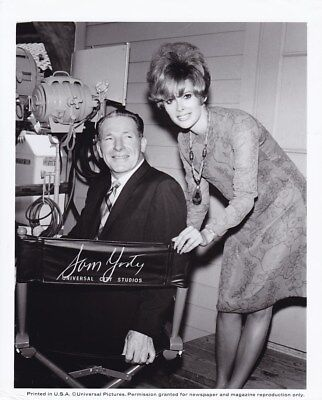 Jill St  John Mayor Sam Yorty Vintage 1960S Candid Universal Pictures Photo