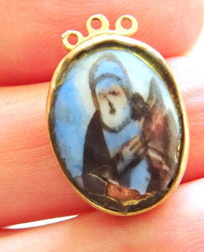 Antique Georgian Enamel + 18ct Gold Necklace Clasp-