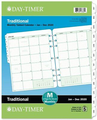Day-timer 2020 Monthly Planner Refill 8-12 X 11 Folio Size 5 Two Pages Per