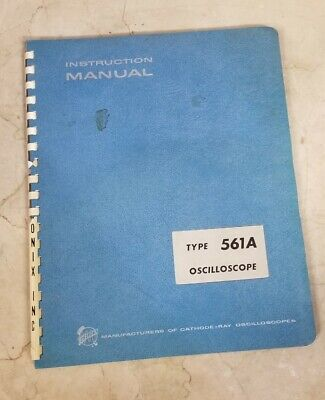 Tektronix 561a Oscilloscope Instruction Manual Service
