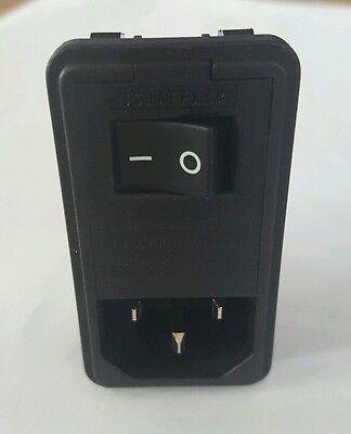 New Schaffner Fn 382-6 Iec Ac Power Entry Filter Module W Switch Fn382-6-22 6a