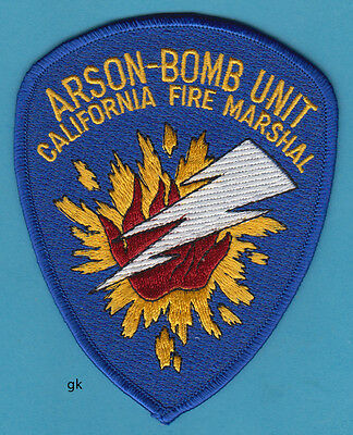 CALIFORNIA FIRE MARSHAL ARSON-BOMB UNIT POLICE SHOULDER PATCH