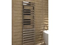 KUDOX VECTIS SILVER TOWEL WARMER H1500MM W 500MM B&Q RRP £300