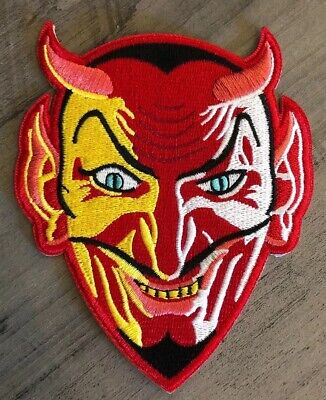 "Embroidered Red Devil Patch 4.5"" Sew or Iron On Demon Krampus Halloween Costume (Halloween Patch)"